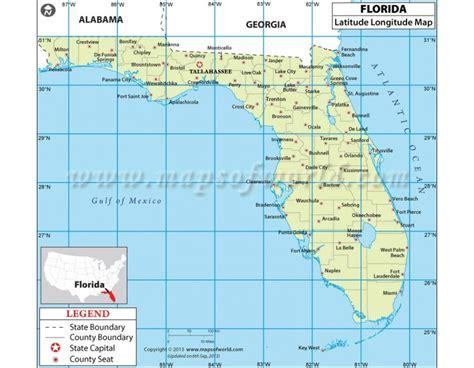 latitude and longitude maps buy florida latitude and longitude map plants