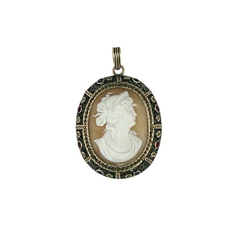 antique gem set cameo pendant at 1stdibs