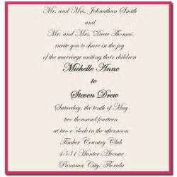 wedding sle invitation wording wedding invitation wording both parents design wedding invite quotes fav wedding style