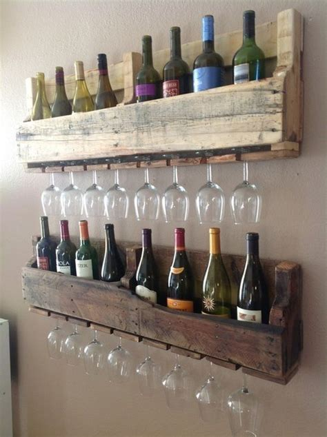 Make A Wine Rack Out Of A Pallet by Wine Rack Out Of Shipping Pallets Diy And Craft