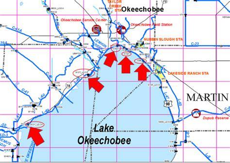 lake okeechobee levels   feet  require lock closures  boating florida
