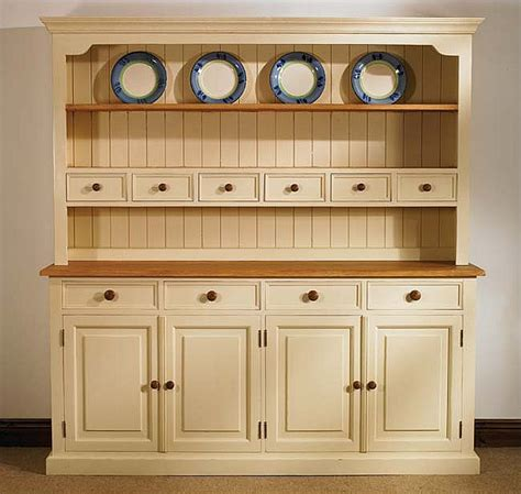 Mottisfont Painted Large Welsh Dresser   Oak Furniture