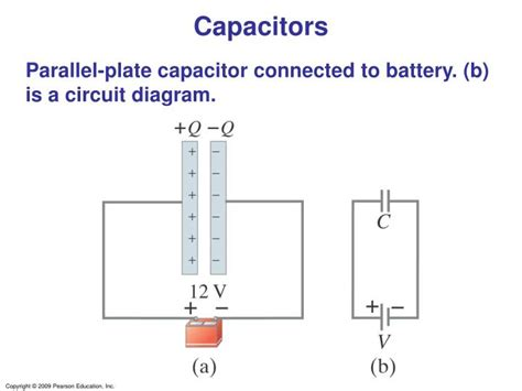 a 10 microfarad parallel plate capacitor is connected to a 12 v battery ppt capacitance and dielectrics powerpoint presentation id 3390244