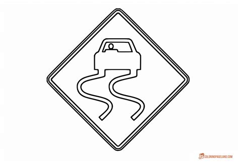 printable road templates traffic signs coloring pages free downloadable printables