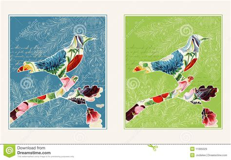 design free collage online two collage bird designs royalty free stock images image