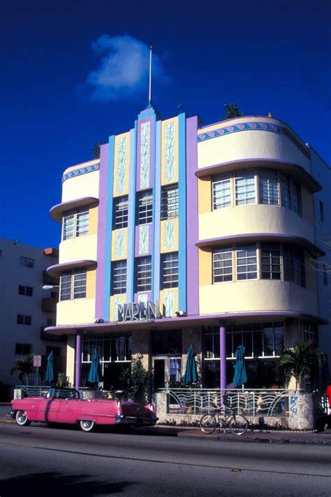 Deco Miami Style Marlin Hotel In Miami Streamline Moderne Deco Design
