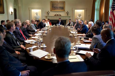 Who Are The Members Of Cabinet by Free Domain Image President Barack Obama Meets