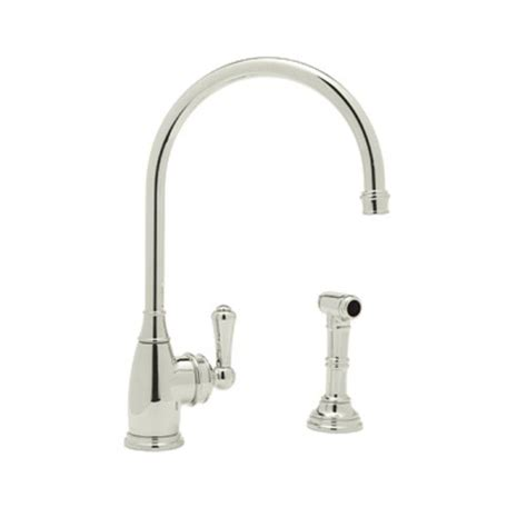 perrin and rowe kitchen faucet rohl perrin and rowe single handle standard kitchen faucet with side sprayer in polished nickel