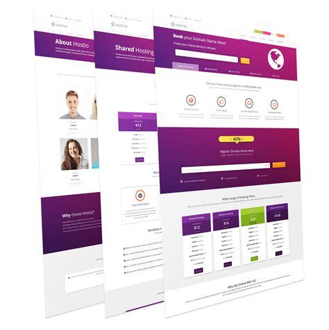 joomla hosting templates hostio responsive hosting template joomla