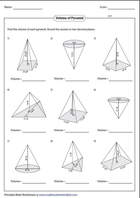 printable math worksheets volume of triangular prism volume of prism worksheet calleveryonedaveday