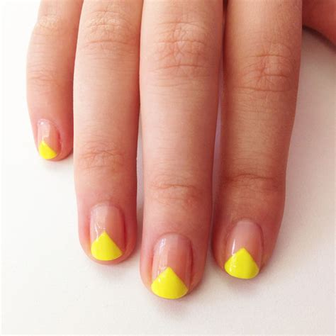 nail art triangle tutorial v shape nail art popsugar beauty