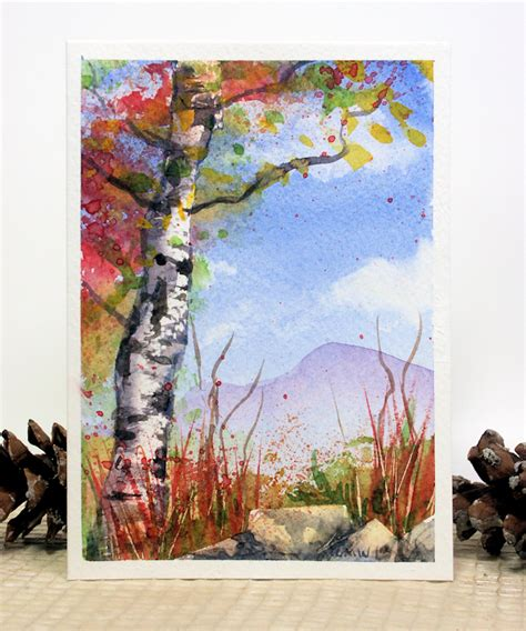 Watercolor Tutorial Frugal Crafter | let s paint blue skies and birch trees today the frugal