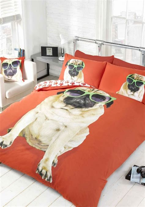 pug bed covers pug quilt duvet cover or cushion cover bedding bed sets funky animals new ebay