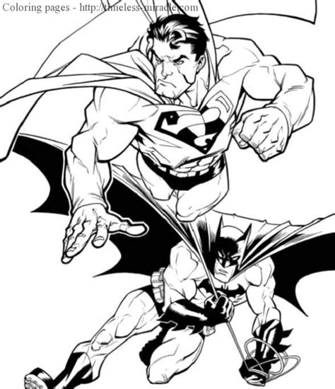 coloring pages of batman and superman superman vs batman drawing coloring coloring pages