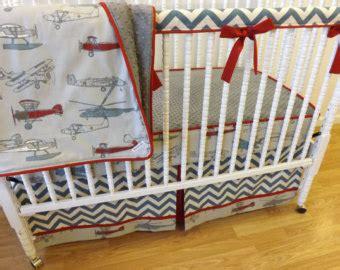 vintage airplane crib bedding airplane bedding etsy
