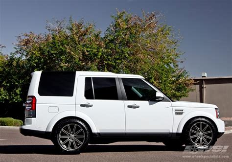 white land rover lr4 with black wheels 2013 land rover lr4 with 20 quot vossen cv4 in matte graphite