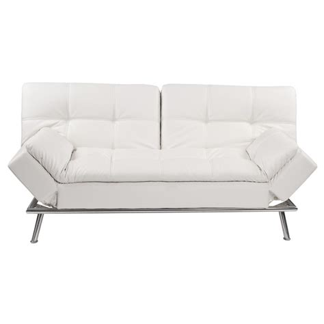 white 3 seater tufted clic clac sofa bed denver maisons