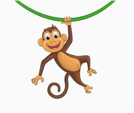 Peal And Stick Wallpaper hanging monkey cartoon free download clip art free
