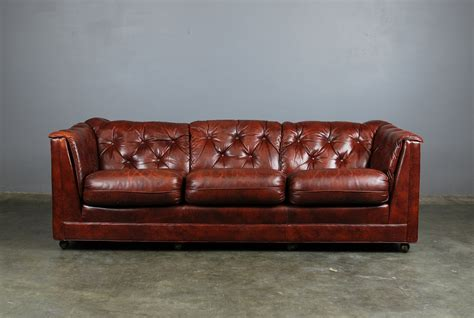 classic tufted brown leather sofa hancock and by madsenmodern