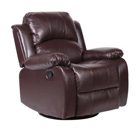 swivel rocker recliners chairs bonded leather rocker and swivel recliner living room