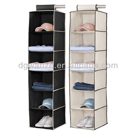 Decorative Storage Boxes For Closets by Closet Hanging Organizer With 6 Compartments 3 Colors New