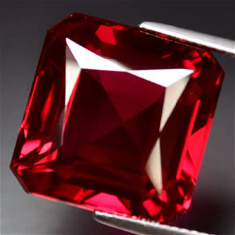 Ruby 19 05ct rubies 30 05ct awesome blood ruby square gem was