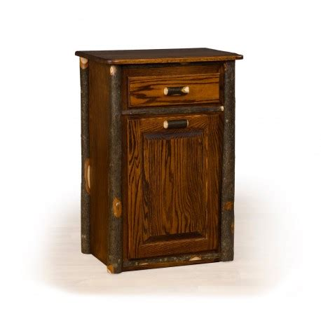 Rustic Hickory Tilt Out Trash Bin Medium Stain Rustic