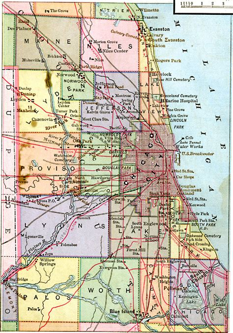 chicago city limits map chicago vicinity