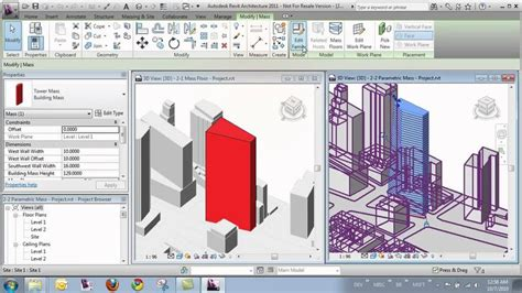 revit tutorial getting started mass families and in place mass families in autodesk revit
