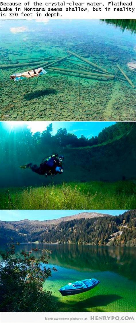 flathead lake montana usa very clear water 370 feet deep favorite places spaces
