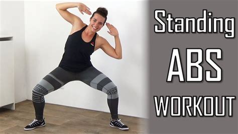 minute standing abs workout belly flattening abs exercises  home  equipment youtube
