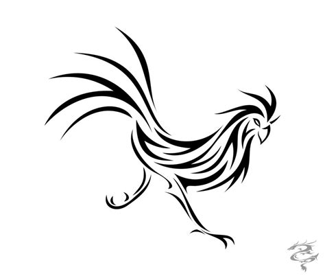 pix for gt tribal rooster tattoo cliparts co
