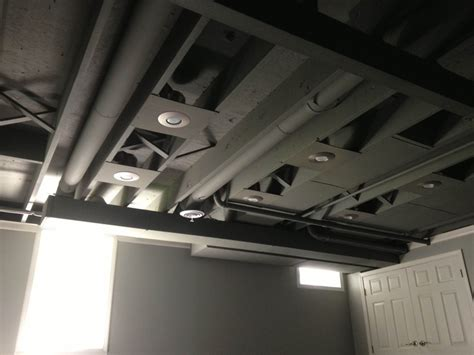 spray paint basement ceiling ideas painted basement