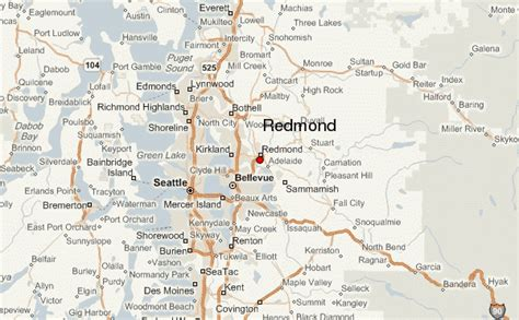 maps redmond redmond location guide