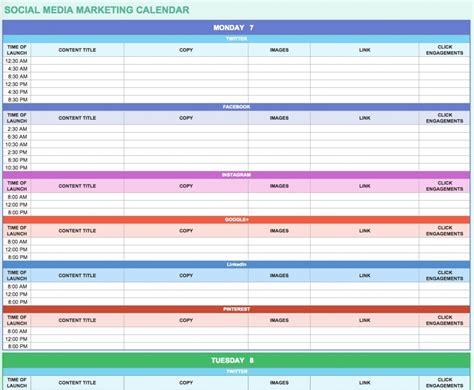9 Free Marketing Calendar Templates For Excel Smartsheet Throughout Marketing Plan Calendar 2018 Marketing Calendar Template