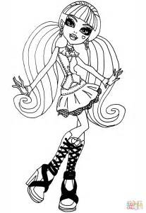coloring pages of monster high draculaura cool draculaura coloring page free printable coloring pages