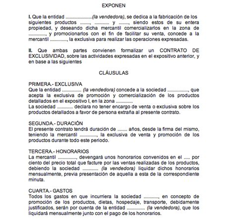 formato modelo o ejemplo de contrato de asimilados a salarios modelo de contrato de exclusividad turno de oficio