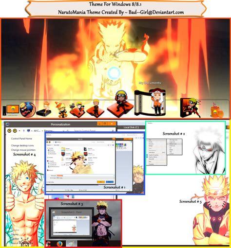 themes girl windows 7 narutomania theme for windows 8 8 1 by bad girl on deviantart