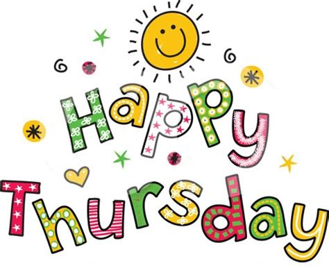 Free Happy Thursday Clipart reflections from bon bon pond thursday greetings
