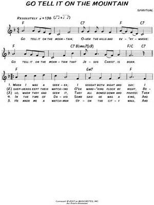 printable lyrics go tell it on the mountain african american spiritual quot go tell it on the mountain