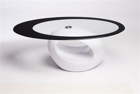 Contemporary Glass Coffee Tables Uk Contemporary Retro Designed Oval Coffee Table Black Clear Ukcoffeetables