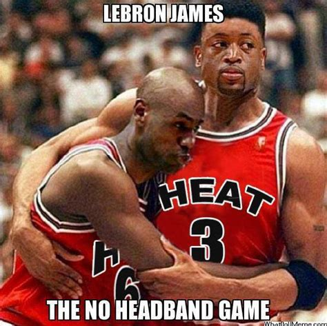 Lebron Headband Meme - back to back mvps came out two times a world lebron james