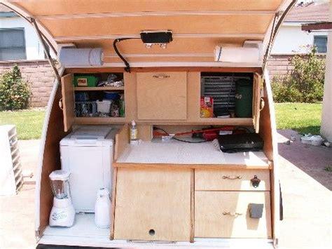 photos of galley options teardrops etc pinterest trailers trailer storage and teardrop teardrop trailer galley designs slot under tv