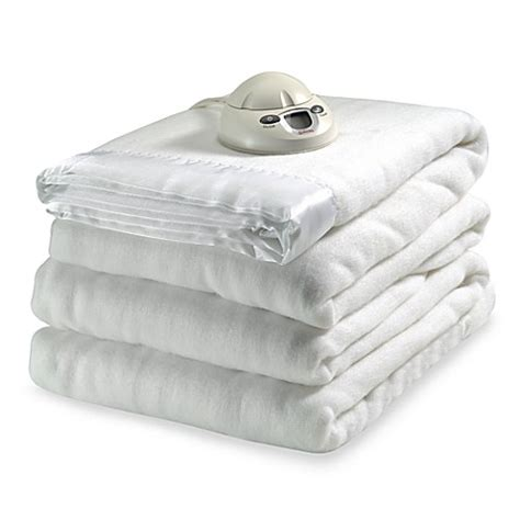 electric blanket bed bath and beyond sunbeam 174 therapedic queen heated blanket white bed