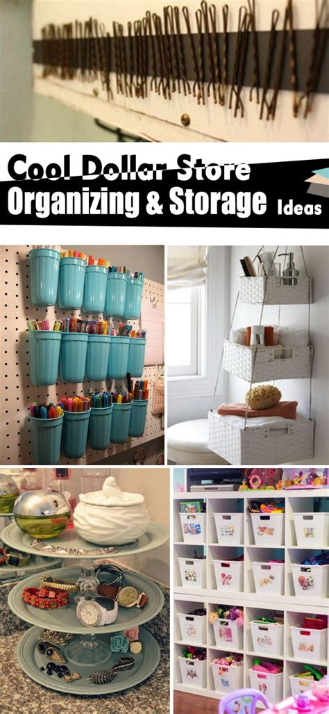 Dollar Store Organizing Ideas | cool dollar store organizing storage ideas noted list