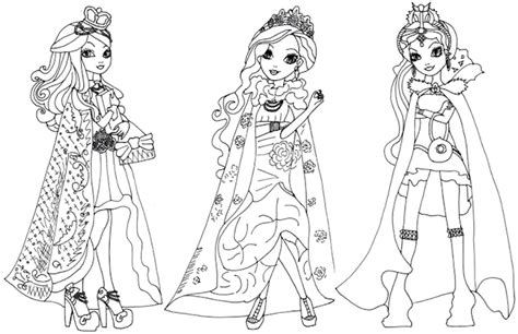 Ever After High Coloring Pages Legacy Day | free printable ever after high coloring pages ever after