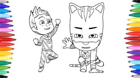 pj masks coloring pages for connor transforms into