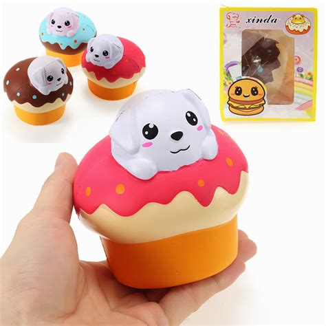 puppy squishy xinda squishy puppy puff cake 10cm rising with packaging collection gift soft