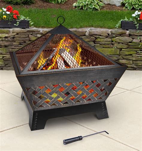 landmann firepit barrone firepit 25282 pits outdoor heating