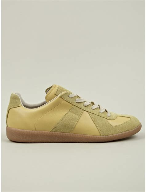 maison martin margiela mens sneakers maison martin margiela 22 mens yellow replica low top